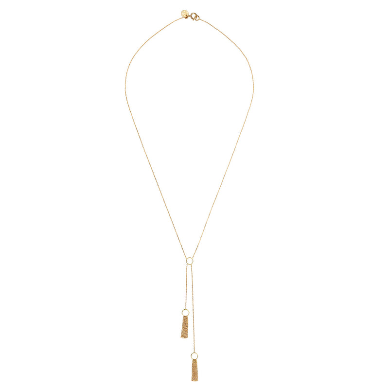 TAKE A BOW DOUBLE TAIL NECKLACE
