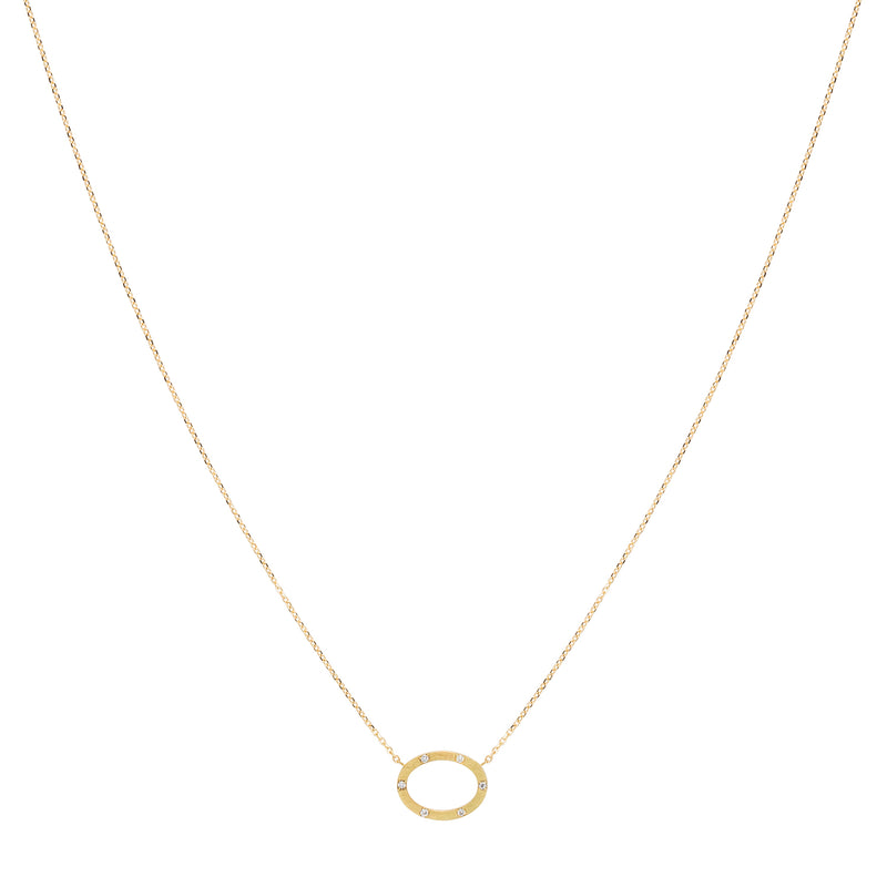 Square Chic Oval Necklace