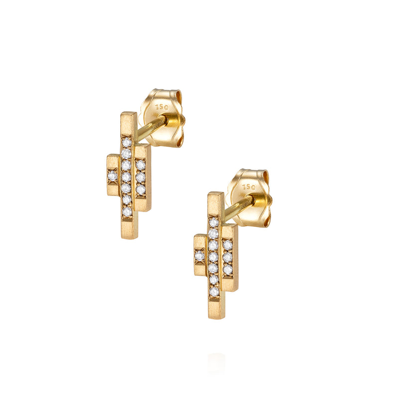 DECO DECADENCE DIAMOND STUDS