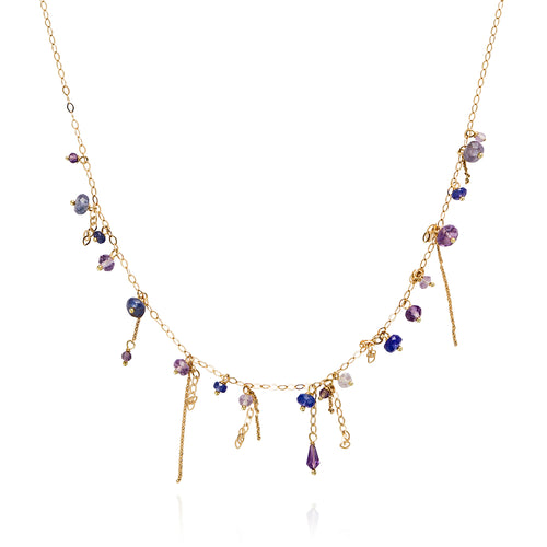 Pogo Punk Tanzanite and Amethyst Necklace