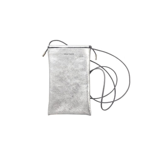 Tracy Tanner Tia Silver Leaf Foil Phone Bag