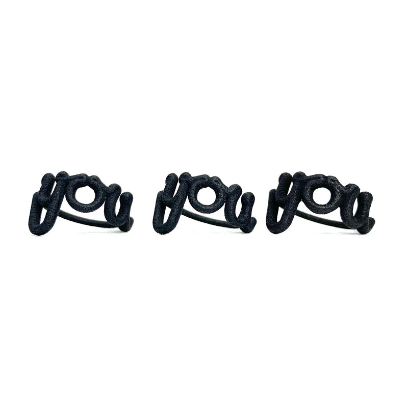 Zoe Sherwood Black 'You' Ring