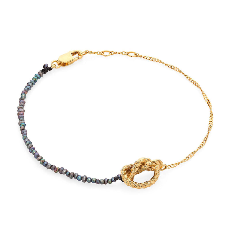 Kerry Huff Gold and Black Pearl Bracelet