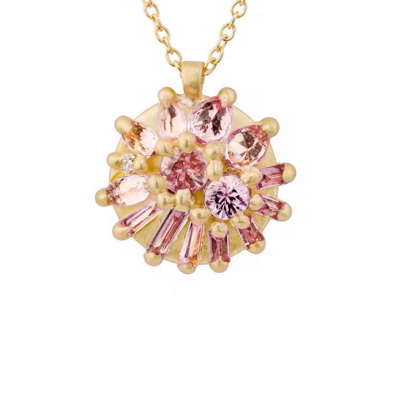 Polly Wales Lotus Dome Cherry Blossom Necklace