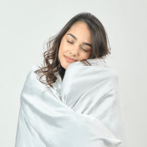 Weighted Blanket Protector (White) - Bamboo