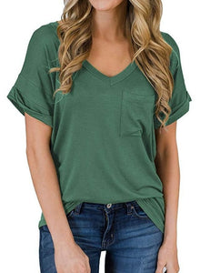 Pure Color Cropped Tee