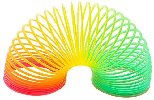 Kids Rainbow Magic Spring Slinky Coil - Fun, Colourful, Stretchy, Bouncing Toy - Ideal for all Kids, Children's Parties, Gifts, Party Bags, Prizes and...