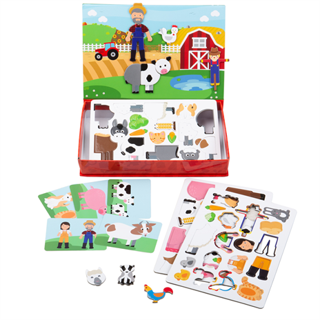 Bigjigs Toys Mag-Play (Meadow) | Magnets & Magnetic Storytelling Board