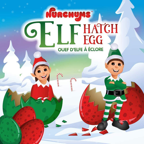 Nurchums Hatching Egg, Christmas Elf Hatch and Grow Lucky Dip (Large 11cm)