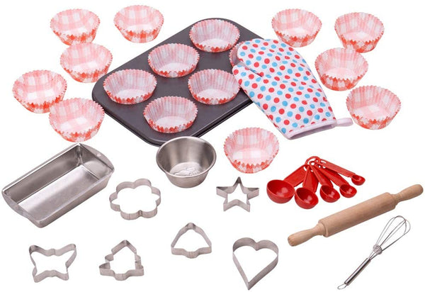 Bigjigs Toys Young Chefs Baking Set - Cooking, Kitchen, Cakes | Play food