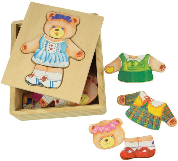 Mrs Bear Dress Up Puzzle with Storage Box