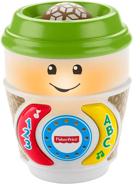Fisher-Price GHJ04 Laugh & Learn On-The-Glow Coffee Cup, Interactive Baby Toy