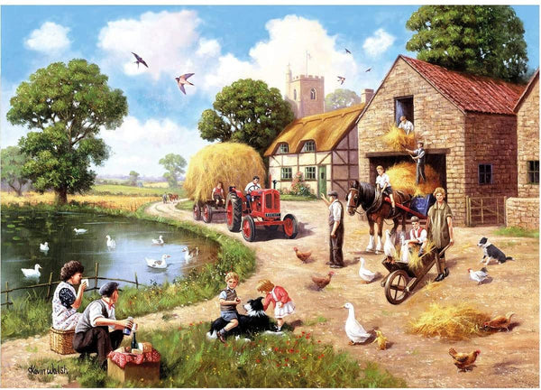 Kevin Walsh K33007 Nostalgia Harvest Time 1000 Piece Jigsaw Puzzle