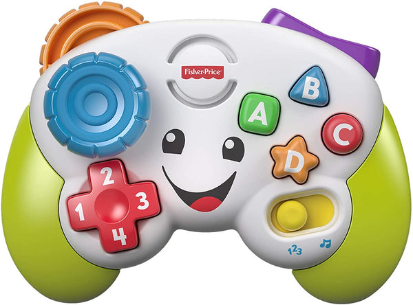 Fisher-Price FWG12 Controller - Musical Gamepad and Learning Joystick - Bright Musical Interactive Baby Toy with Learning and Play Modes