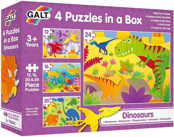 Galt 4 Puzzles in a Box Dinosaurs