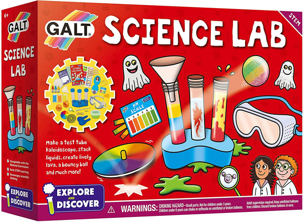 Make a floaty ghost, test tube kaleidoscope and bouncy ball. Play a scary crawling game, discover how to stack liquids and make lively lava!  An exciting kit with fun experiments to encourage early STEM learning.  20 fun experiments.  Includes a 32 page full colour lab book.  Size H22, W30.9cm. For ages 6 years and over. Manufacturer's 1 year guarantee. EAN: 5011979579492. WARNING(S): Not suitable for children under 3 years old. Only for domestic use. To be used under the direct supervision of an adult.