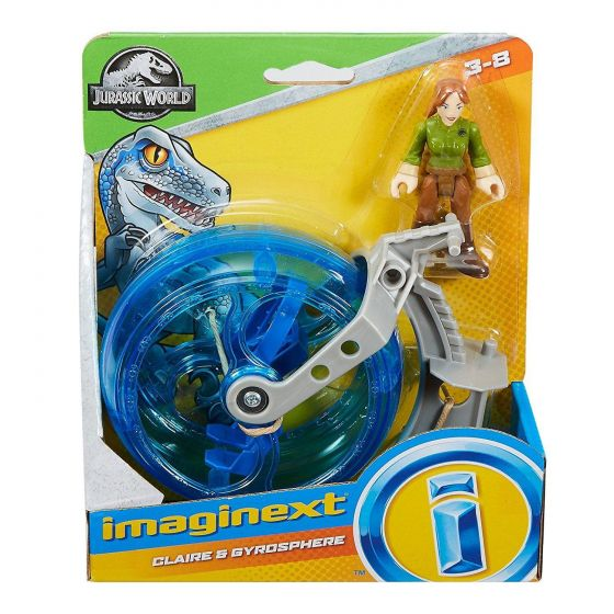 Imaginext Jurassic World Basic Asst - Claire & the Gyrosphere