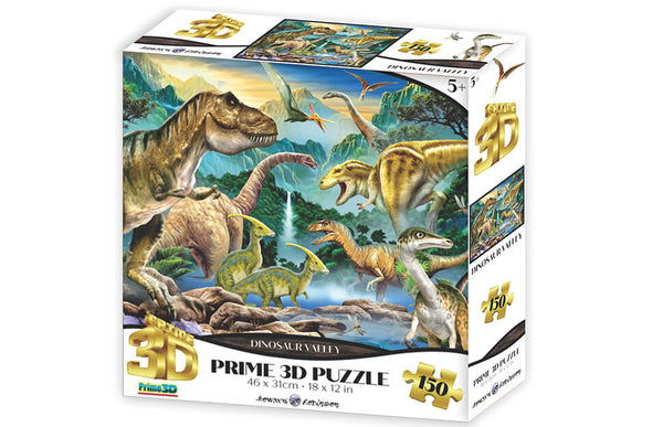 Howard Robinson Super 3D Puzzle Dinosaur Valley 150pc