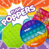 LATEST CRAZE Rainbow Push Popper | Fidget Toy | Sensory Toy Also Available in Glow In the Dark & Glitter
