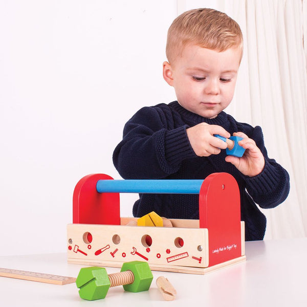 Bigjigs Toys My Wooden Tool Box with Tools