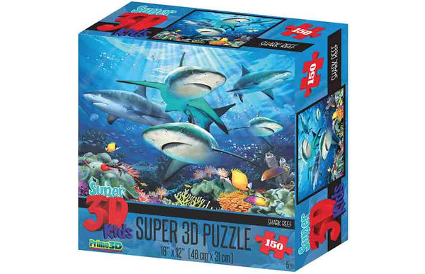 Howard Robinson Super 3D Puzzle Reef Sharks 150pc