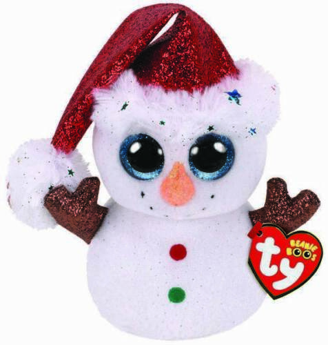 TY Boo Flurry Snowman Small
