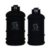 His & Hers Matte Black Water Bottles with Black ShakeSphere Logo