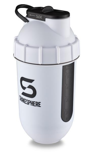 700mls ShakeSphere Tumbler View Matte White/Black Window