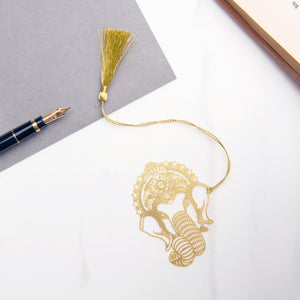 Lord Ganesh Metal Bookmark