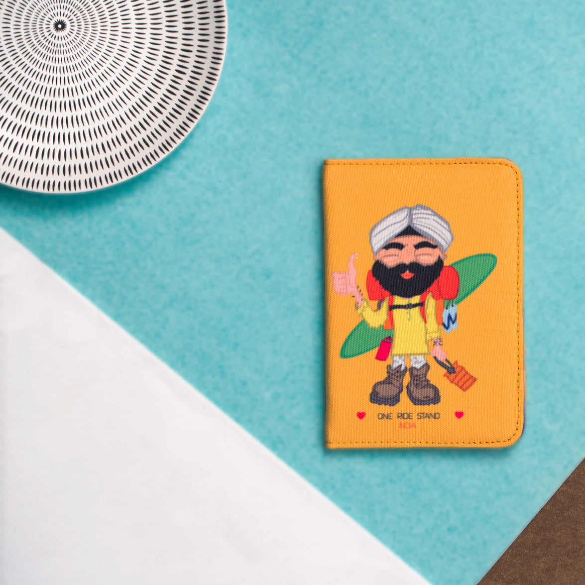 The Hitch Hiking  Yellow Sardar Passport Cover