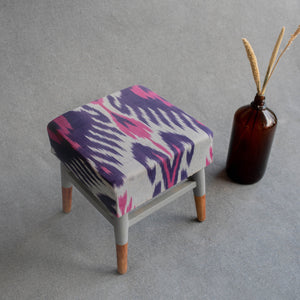 STOOL IKAT BLUE