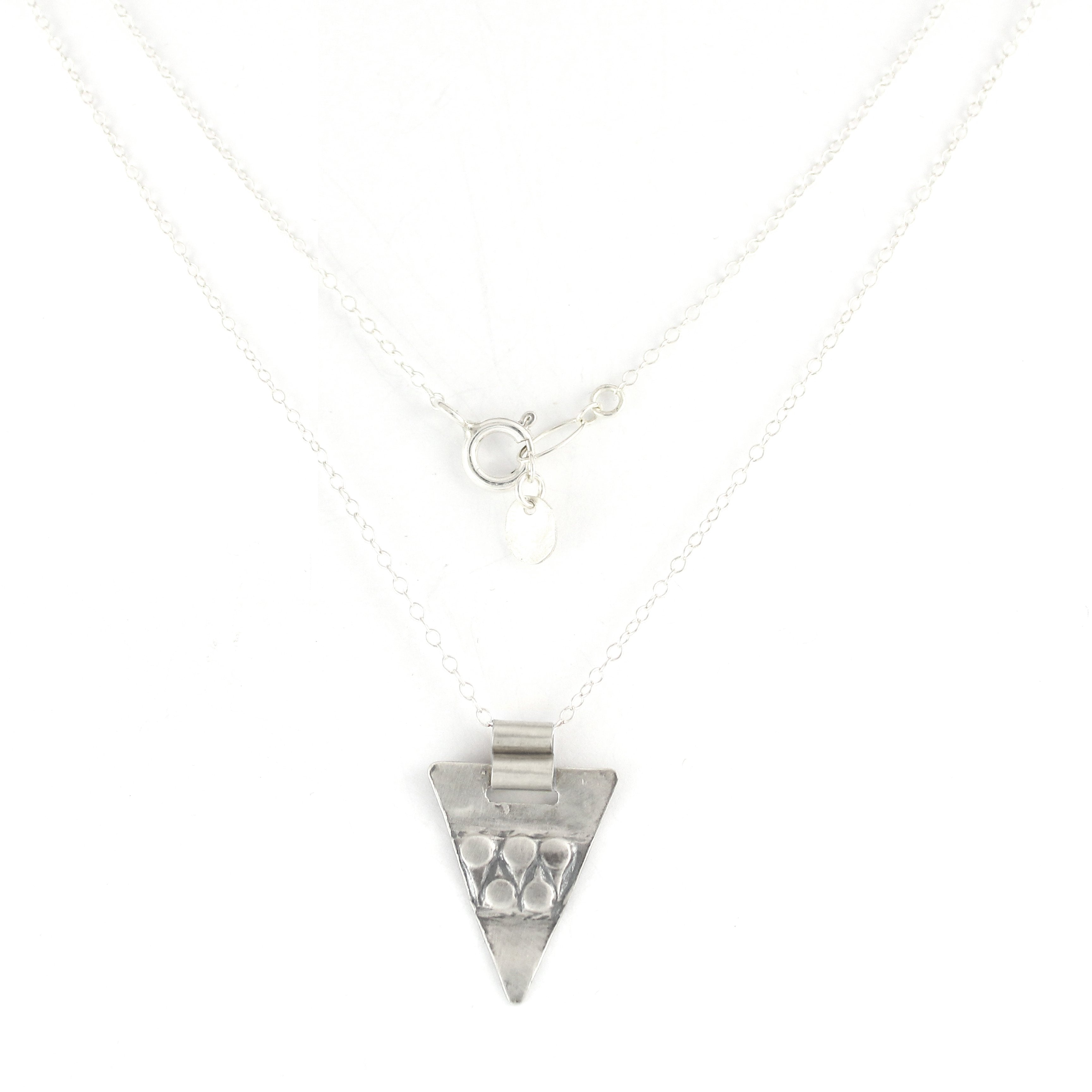 Silver & Gold filled Triangular Pendent Necklace - Shulamit Kanter