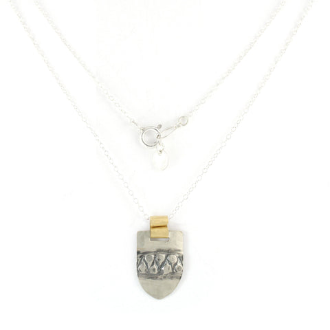 Silver & 14K Gold Filled Geometric Pendent Necklace