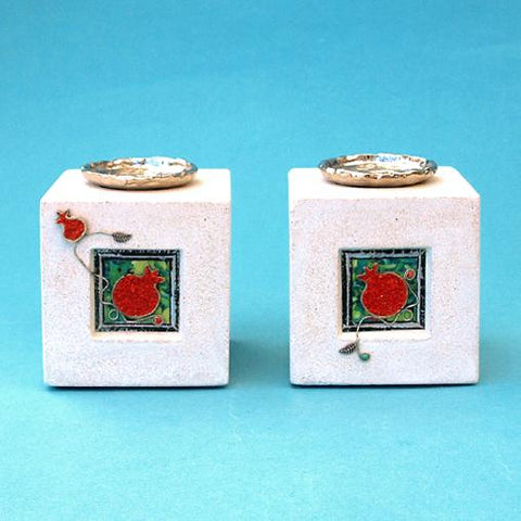 Pomegranate Candlesticks