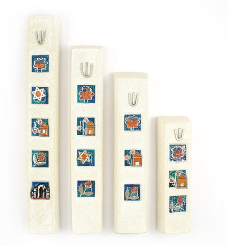 Israeli abstract Mezuzah