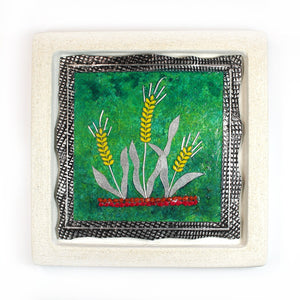 Barley- Jerusalem Cast Stone Picture - Shulamit Kanter