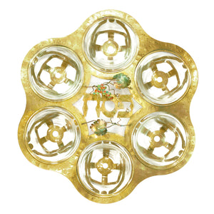 Grapes- Brass Passover Seder Plate - Shulamit Kanter