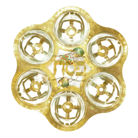 Grapes - Metal Passover Seder Plate