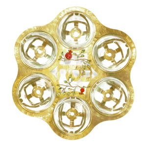Pomegranate - Metal Passover Seder Plate - Shulamit Kanter Official Store