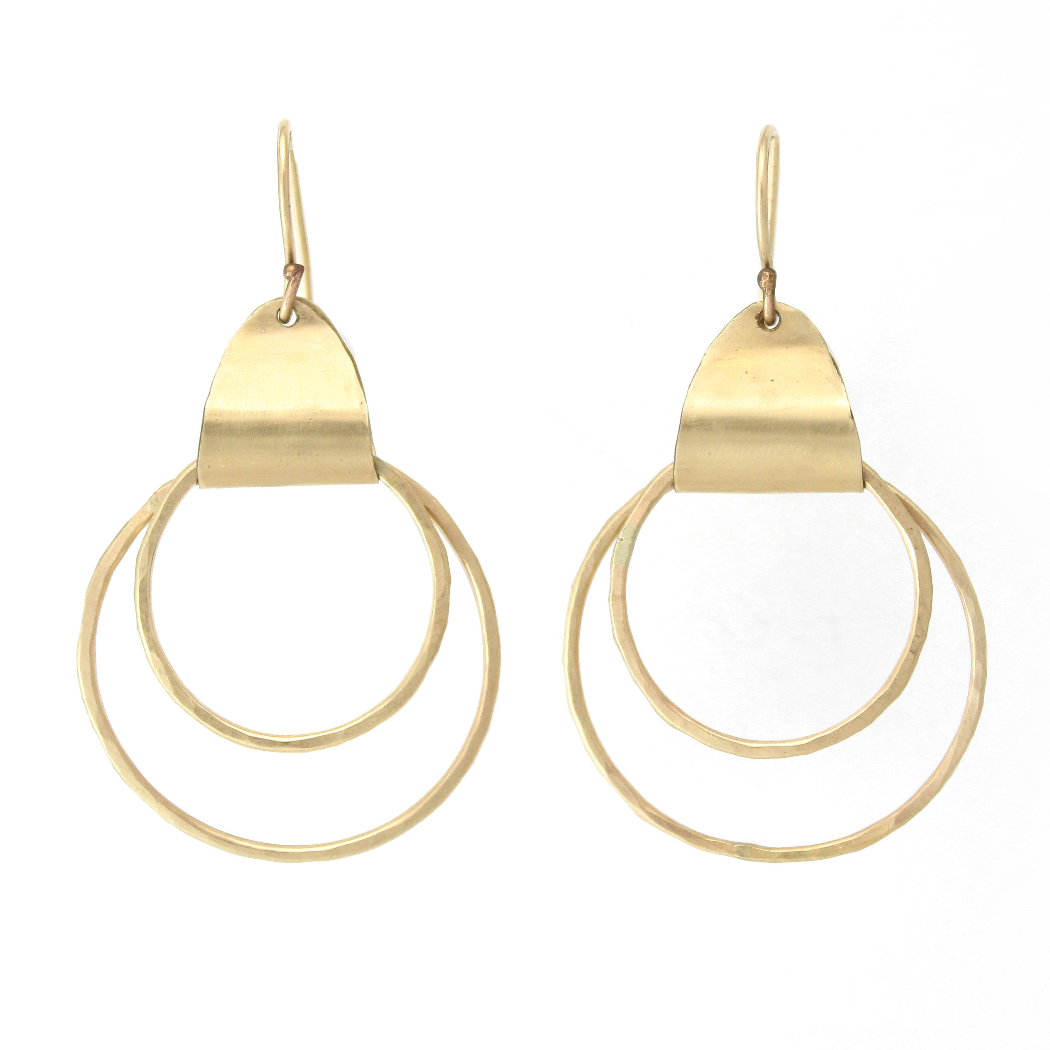 Ancient Egyptian Earrings (Gold filled/Silver) - Shulamit Kanter