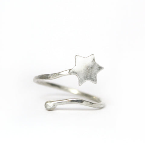 Star Of David Silver Ring