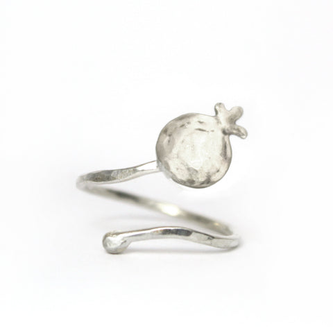 Pomegranate Silver Ring