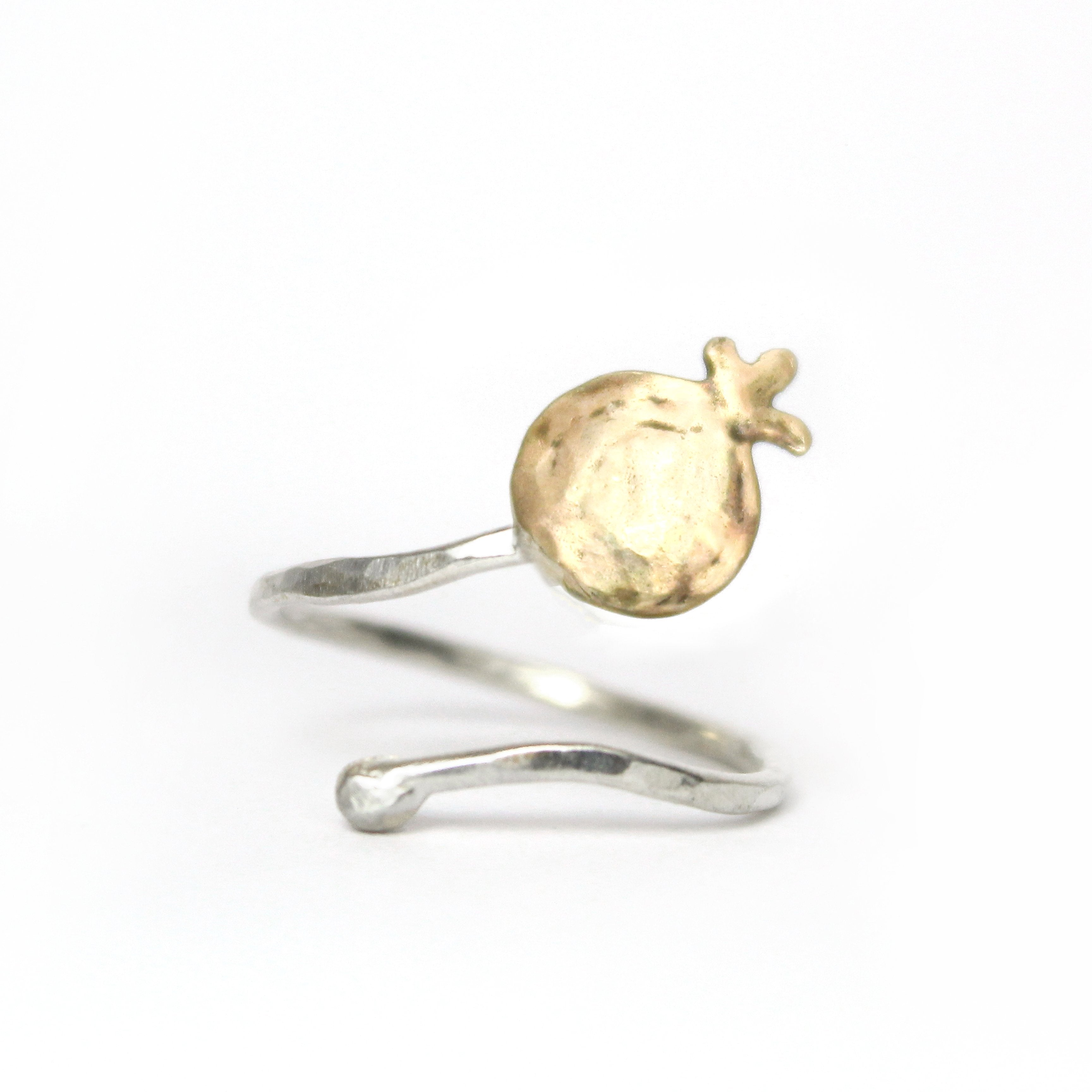 Pomegranate Silver & Gold Ring - Shulamit Kanter
