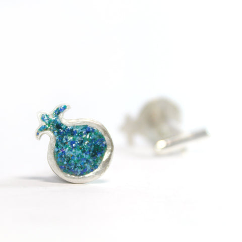 Turquoise Pomegranate Silver Cufflinks