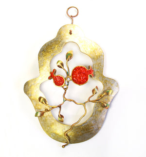 Pomegranate Hamsa - Shulamit Kanter Official Store