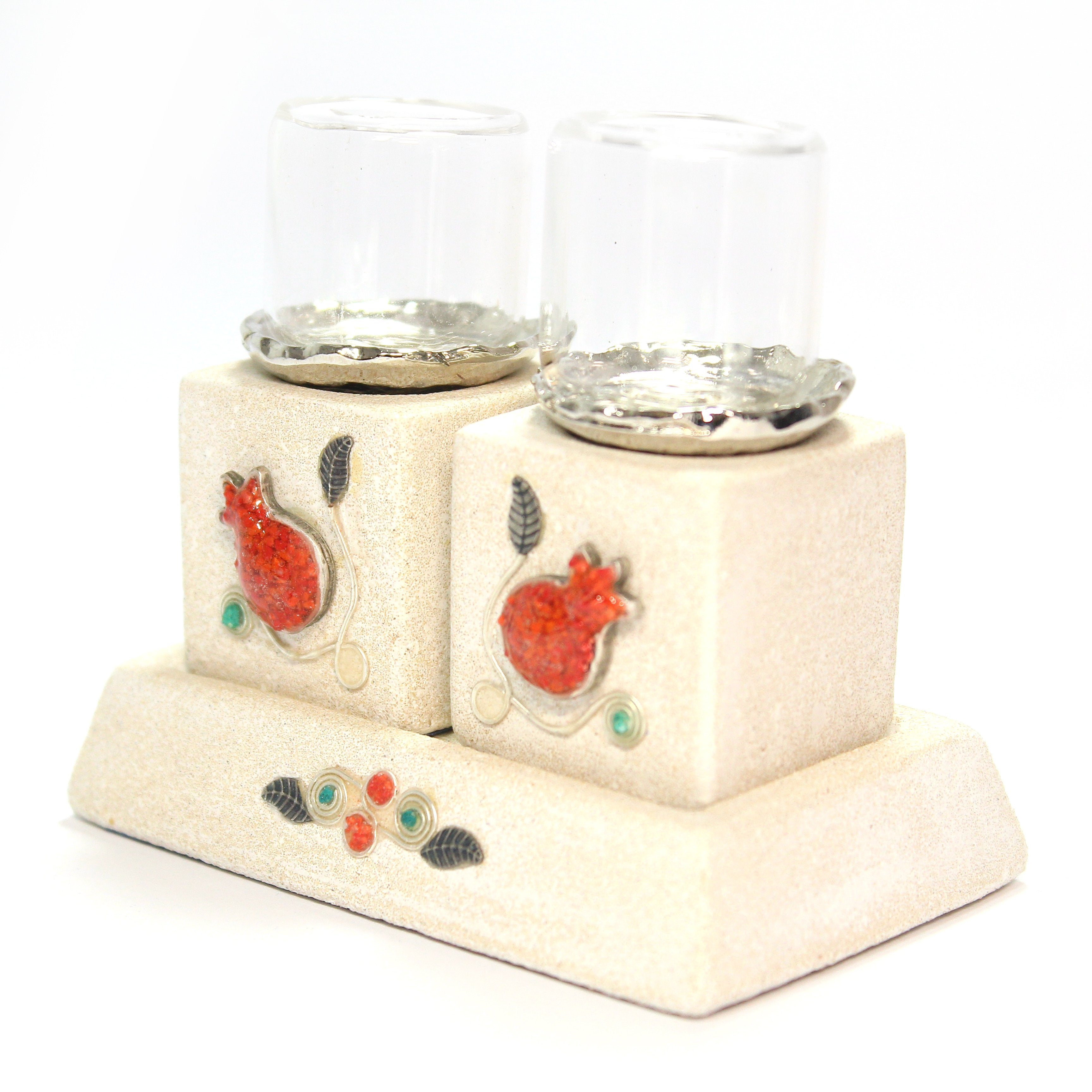 Pomegranate Candlesticks - Shulamit Kanter Official Store