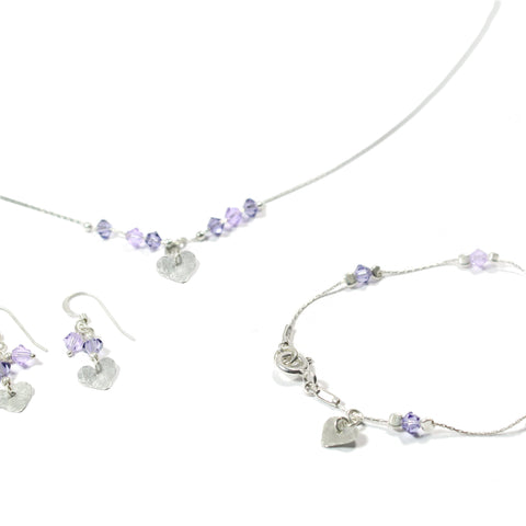 Swarovski and Silver Heart Jewelry Set