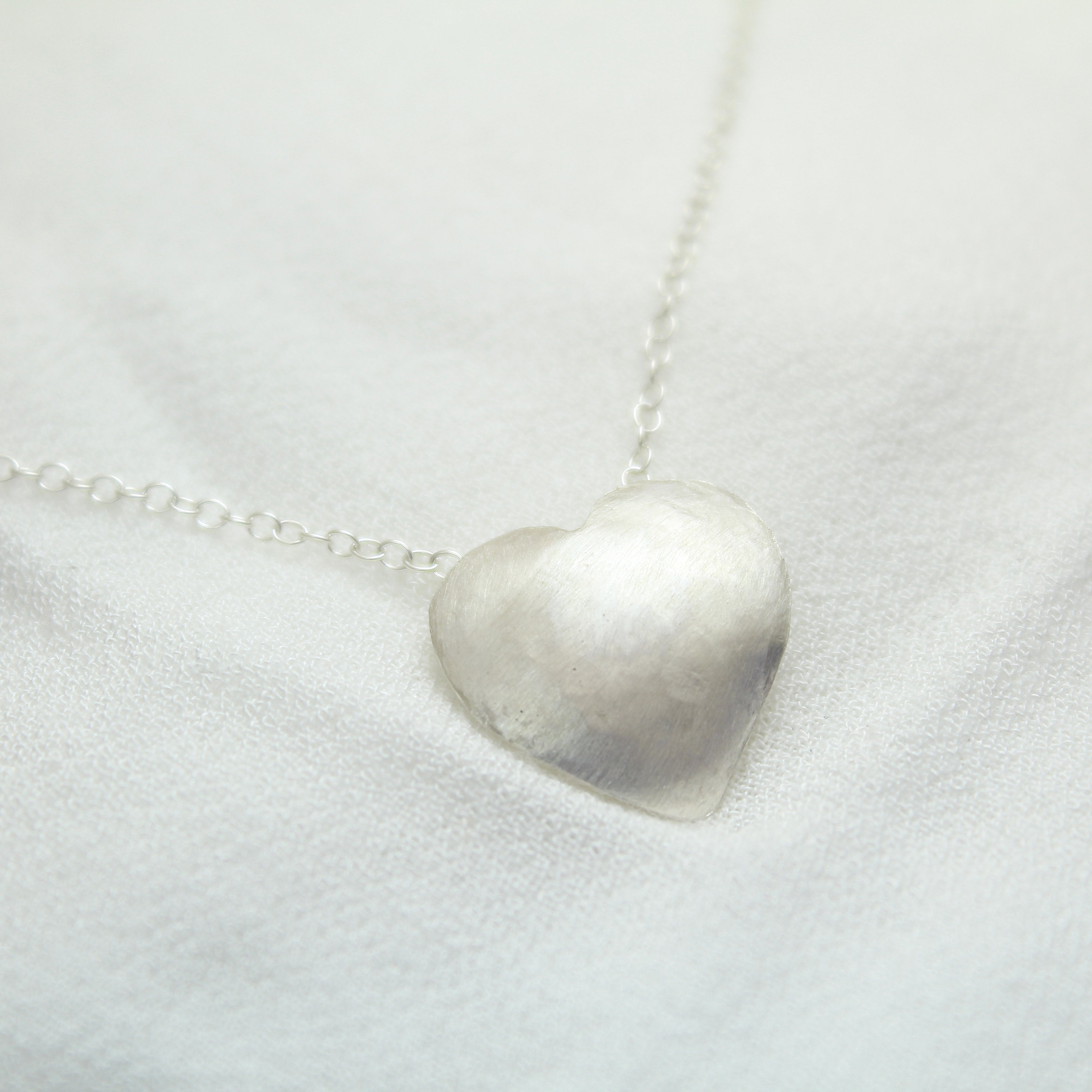 Heart Silver Necklace - Shulamit Kanter Official Store