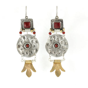 Silver & Gold filled & Gemstone Earrings - Shulamit Kanter
