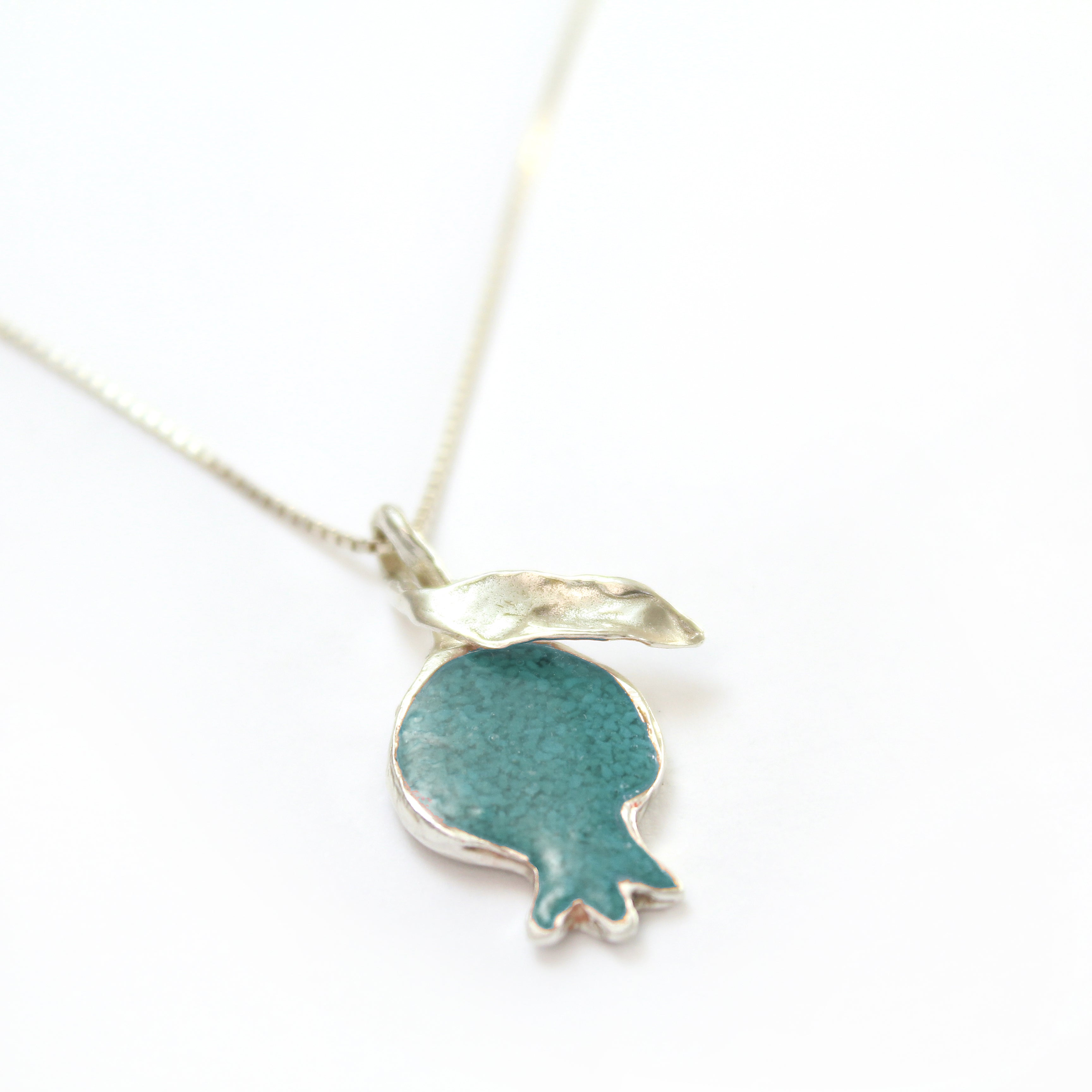 Turquoise Pomegranate Necklace